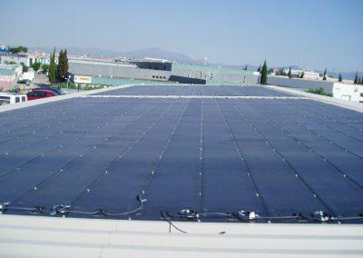 Estacionamiento en un centro comercial de Barcelona con pérgola fotovoltaica 95 kWn.